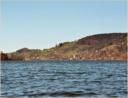 Ferienwohnung am Schliersee mit Bergblick Seesicht