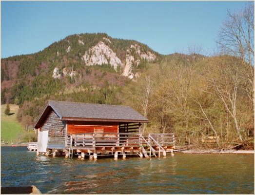 Ferienwohnung am Schliersee mit Bergblick Bergehintergrund