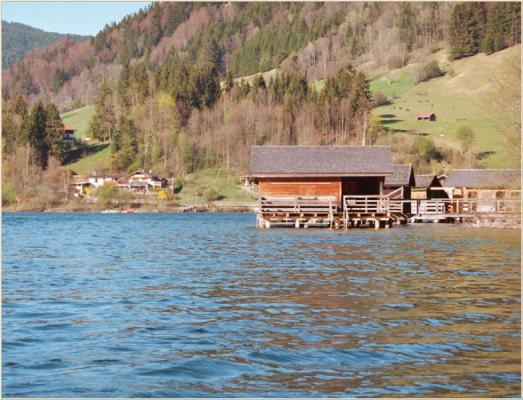 Ferienwohnung am Schliersee mit Bergblick See und Haus