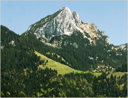 Ferienwohnung am Schliersee mit Bergblick Berg und Wiese