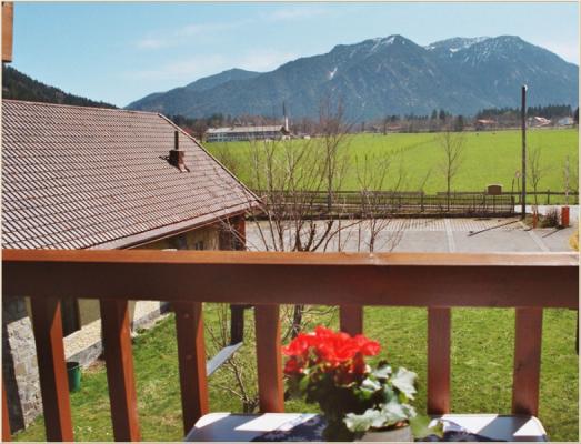 Ferienwohnung am Schliersee mit Seeblick Geländer