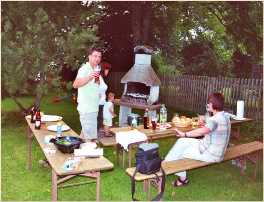 Ferienwohnung am Schliersee Galerie mit Bergb lick Picknick