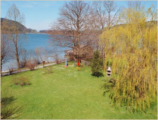 Ferienwohnung am Schliersee Galerie mit Bergblick Ufer