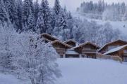 Hütten Salzburger im Schnee