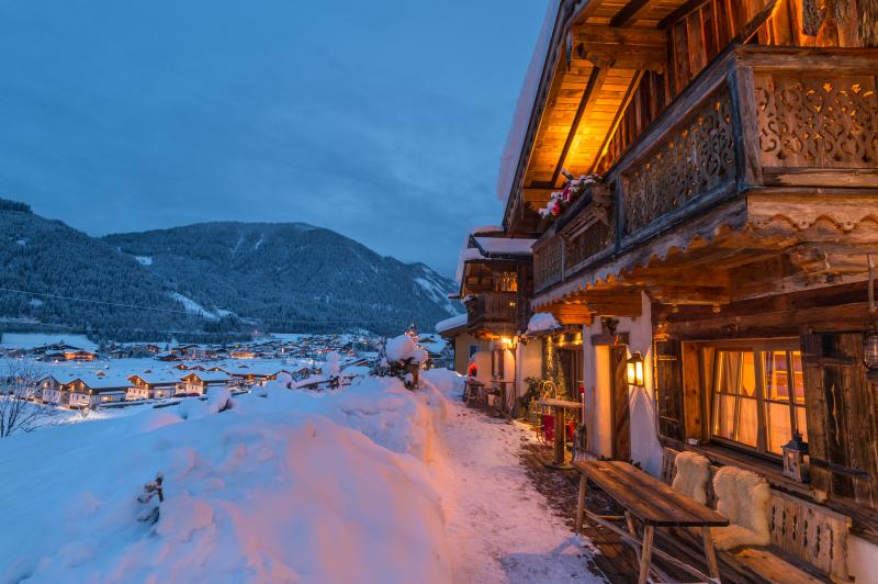 Chalet an der Piste Salzburger Land Nacht
