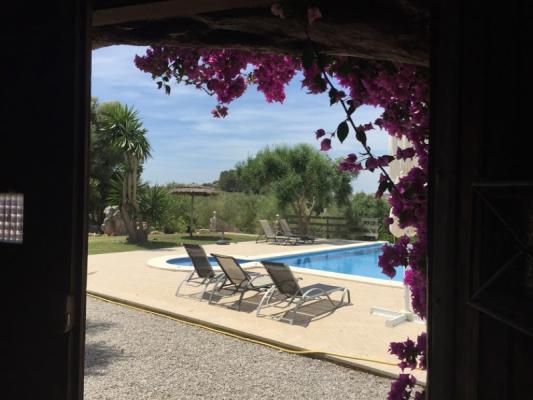 Romantische Naturstein Finca auf Mallorca Pool Ausschnitt