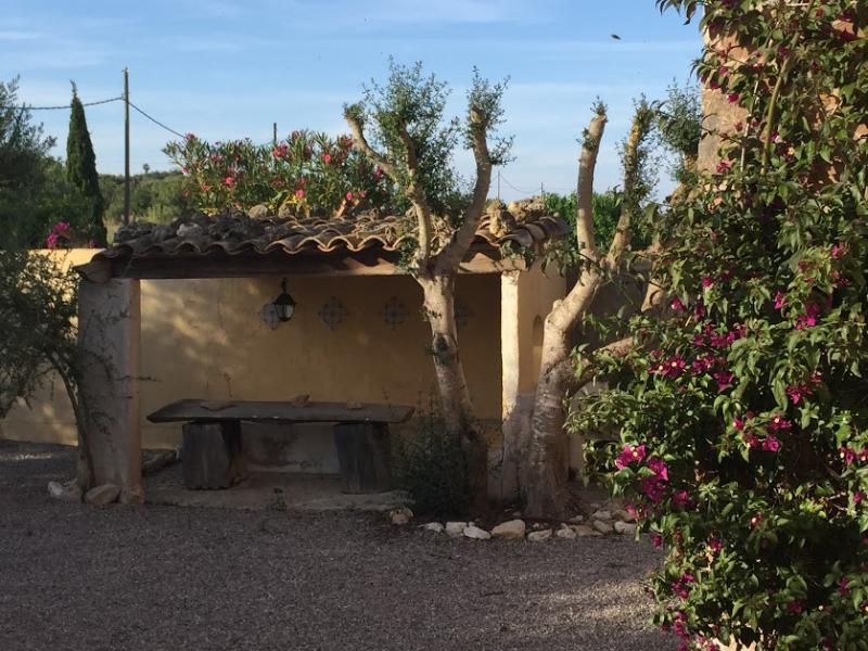 Romantische Naturstein Finca auf Mallorca Bäume weit