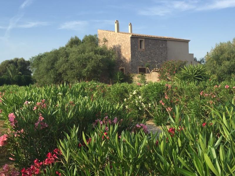 Romantische Naturstein Finca auf Mallorca Haus Weitansicht