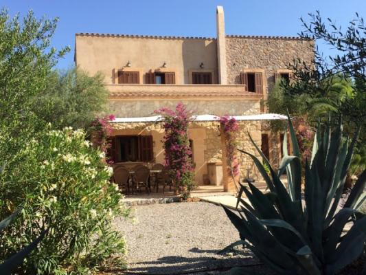 Romantische Naturstein Finca auf Mallorca Hauszufahrt