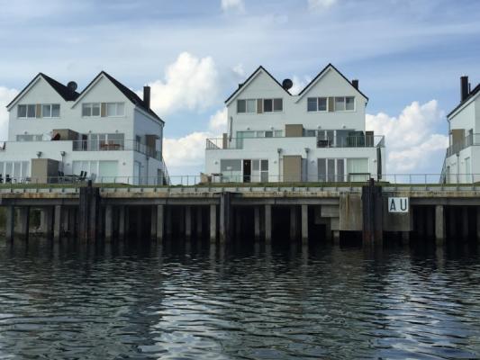 Olpenitz Maisonette Ferienwohnung 2 Häuser vorn