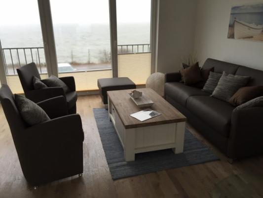Olpenitz Maisonette Ferienwohnung Couch