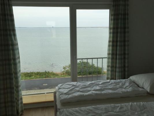 Olpenitz Maisonette Ferienwohnung Meer mit Bett