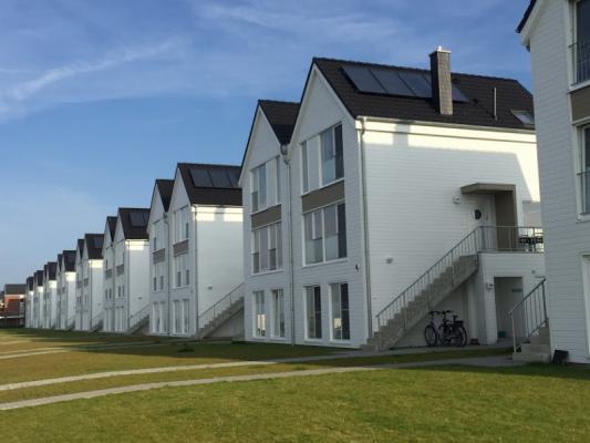 Olpenitz Maisonette Ferienwohnung Häuserreihe