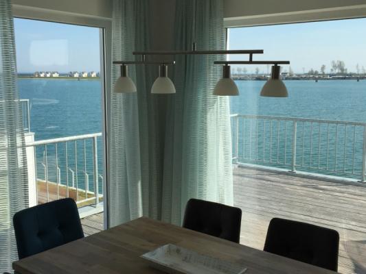 Olpenitz Maisonette Ferienwohnung Ausblick mit Terrasse