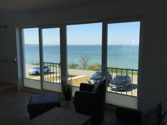 Olpenitz Maisonette Ferienwohnung Fenster mit Ostseee