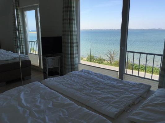 Olpenitz Maisonette Ferienwohnung Blick aus dem Schlafzimmr