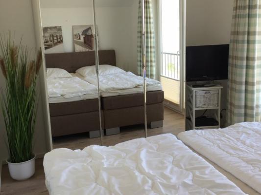 Olpenitz Maisonette Ferienwohnung Schlafzimmer