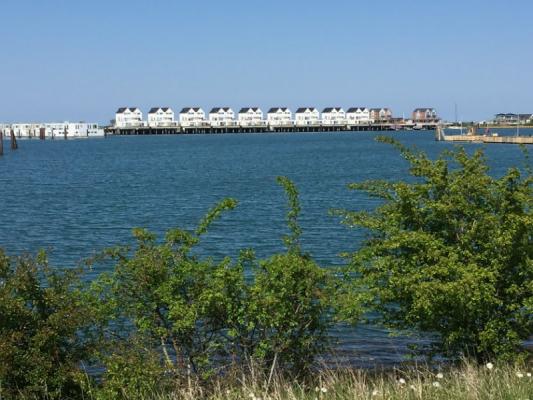 Olpenitz Maisonette Ferienwohnung Blick auf den Hafen