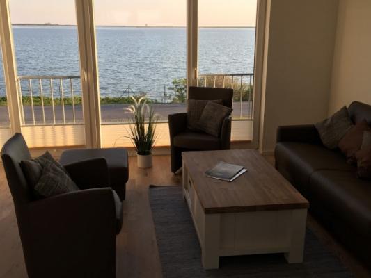 Olpenitz Maisonette Ferienwohnung Blick vom Sofa
