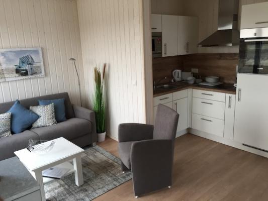 Ferienhaus Olpenitz mit 2 Zimmern Sofa mit Küche