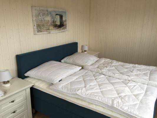 Ferienhaus Olpenitz mit 2 Zimmern Bett